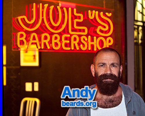 Andy at Joe's Barbershop.
