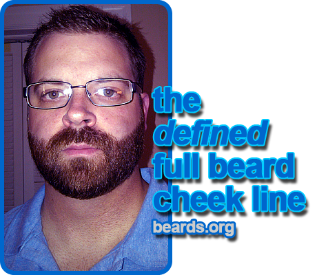 the defined full beard cheek line