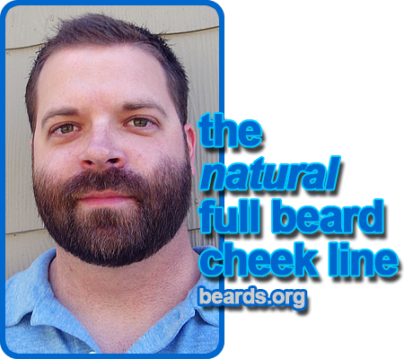 the natural full beard cheek line