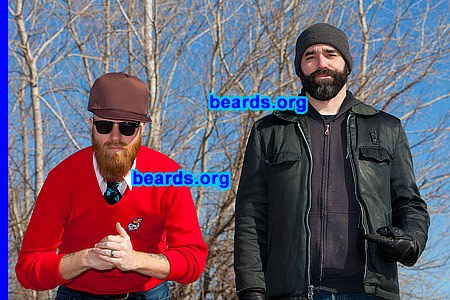 John and Mike, dueling beards