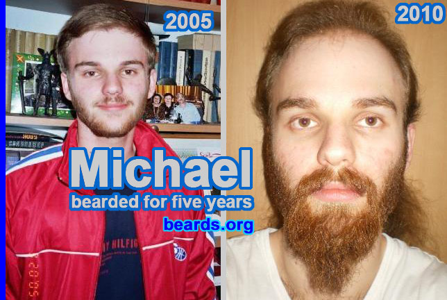 Michael: five beard years