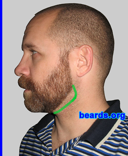 designing a neck line for your full beard all about beards. Black Bedroom Furniture Sets. Home Design Ideas