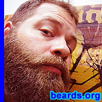 Chris' fierce beard